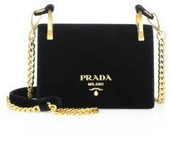 pradaPrada Pattina Velvet Chain Shoulder Bag