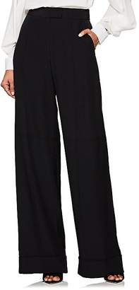 Zac Posen Women's Silk Crepe Wide-Leg Trousers