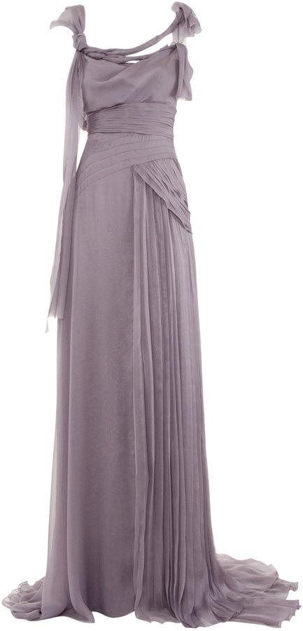 Alberta Ferretti Goddess Silk Dress