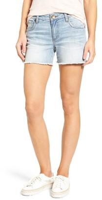 Women's Kut From The Kloth Gidget Frayed Denim Shorts $69 thestylecure.com