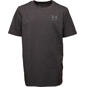 Under Armour Junior Boys Charged Cotton Top Black