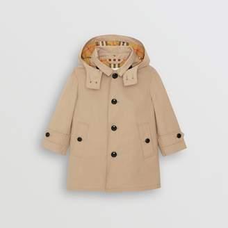 Burberry Childrens Detachable Hood Cotton Car Coat