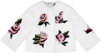 Dolce & Gabbana White Fur Coat