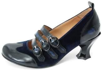 John Fluevog Blue Velvet Heel $259 thestylecure.com