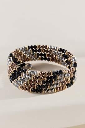 francesca's Kailey Beaded Glass Coil Bracelet - Black