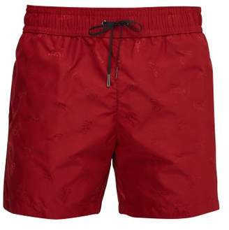 Bottega Veneta Butterfly Jacquard Swim Shorts - Mens - Red