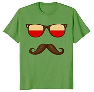 Polish Flag Sunglasses Moustache T-shirt Poland Polska Tee