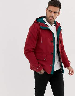 Pretty Green hooded jacket in red