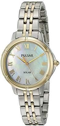 Pulsar Women's 'Ladies Dress Solar' Quartz Stainless Steel Dress Watch (Model: PY5006)