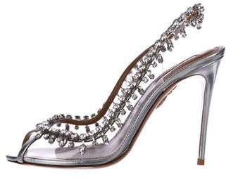 Aquazzura Embellished PVC Sandals