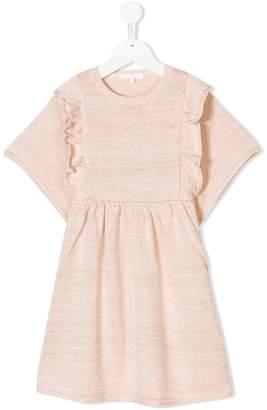 Chloé Kids ruffled knit dress