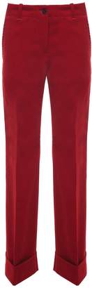Alberto Biani Rolled-cuff Velvet Trousers