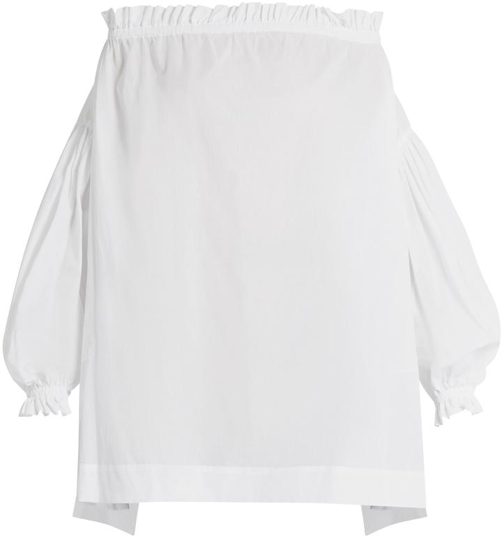 Vivienne WestwoodVIVIENNE WESTWOOD ANGLOMANIA L'ete Chemise off-the-shoulder cotton top