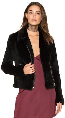 Muubaa Spitfire Rabbit Fur Biker Jacket $869 thestylecure.com