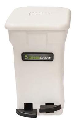 Boulder Cleaners Boulder Clean CompoKeeper Kitchen Compost Bin-White, 6 gal
