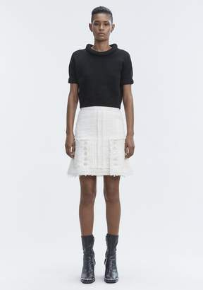 Alexander Wang BOILED WOOL SHORT SLEEVE SWEATER