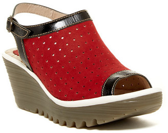 FLY London Yile Perforated Slingback Wedge $185 thestylecure.com