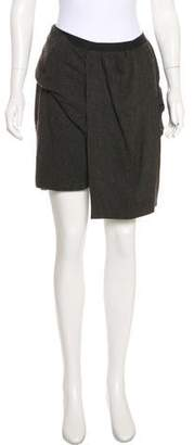 Rick Owens Wrap-Accented Mini Skirt