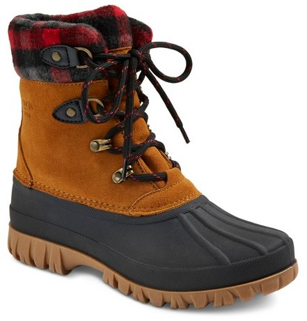 CougarStorm by Cougar Women's Waterproof Plaid Collar Duck Boots