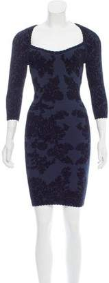 Zac Posen Jacquard Bodycon Dress
