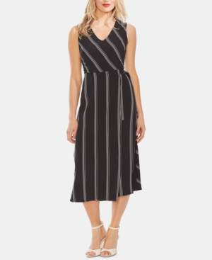 Vince Camuto Striped V-Neck Sleeveless Dress