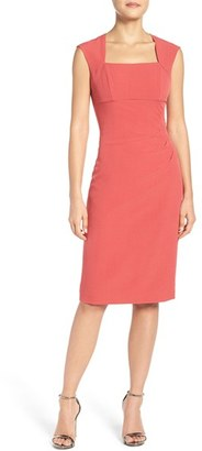 Women's Adrianna Papell Pleated Sheath Dress $98 thestylecure.com