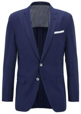 BOSS Hugo Wool Sport Coat, Slim Fit Hartlay 44R Open Blue