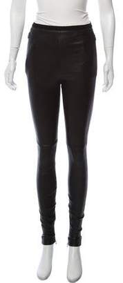 Maison Margiela Lamb Leather Skinny Pants