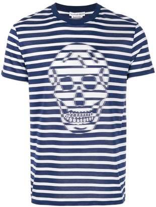 Alexander McQueen Striped skull T-shirt