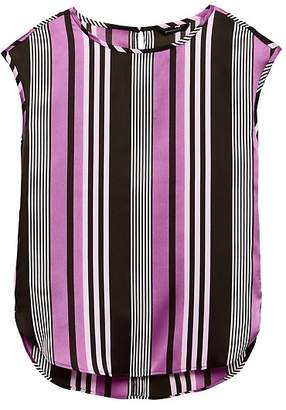 Banana Republic Stripe High-Low Curved Hem Top