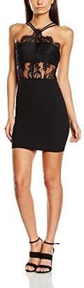 boohoo Women's Boutique Sophia Eyelash Bodycon Dress, (Black)