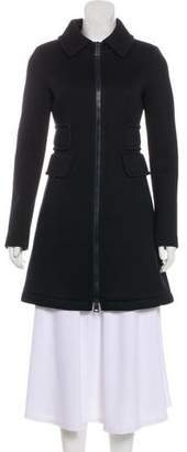 Herno Neoprene Knee-Length Coat