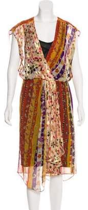 Diane von Furstenberg Semi-Sheer Midi Dress