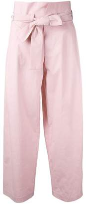 Cavallini Erika tied high waisted trousers