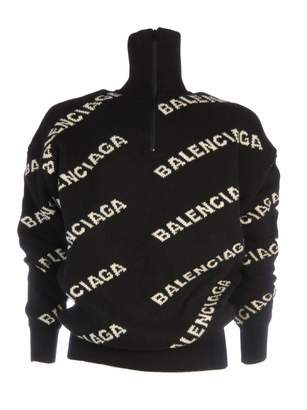 Balenciaga Sweater From :turtleneck Zipped Logo Fantasy