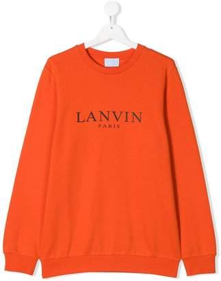 Lanvin Enfant TEEN logo printed sweatshirt