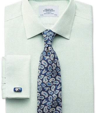 Charles Tyrwhitt Classic fit non-iron imperial weave light green shirt