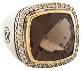 David Yurman Smoky Quartz & Diamond Albion Cocktail Ring