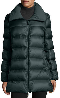 Moncler Torcyn Quilted Wool-Lined Puffer Coat $1,115 thestylecure.com