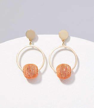 LOFT Beaded Ball Ring Drop Earrings