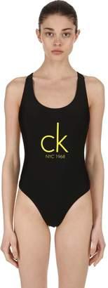 Calvin Klein Cheeky Racerback One Piece Swimsuit