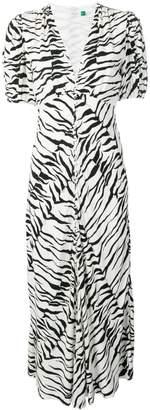 Rixo tiger print flared dress