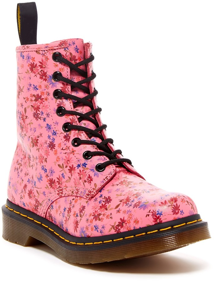 Dr. Martens 1460 W Floral Lace-Up Boot