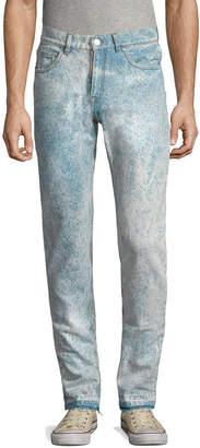 MSGM Distressed Slim Fit Pant