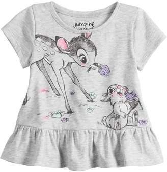 5cdebdaf66311 Disney's Bambi & Thumper Baby Girl Graphic Peplum-Hem Top by Jumping Beans