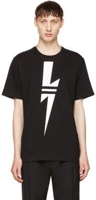 Neil Barrett Black and White Thunderbolt T-Shirt