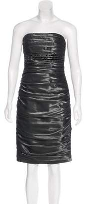 Carmen Marc Valvo Embellished Strapless Dress