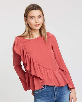 Vero Moda Dagmar Long Sleeve Ruffle Top
