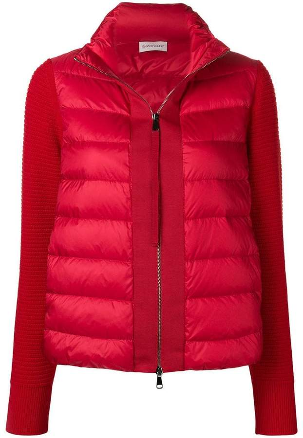 Buy panelled puffer jacket!