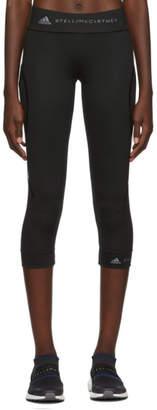 adidas by Stella McCartney Black Three-Quarters Performance Essentials Leggings